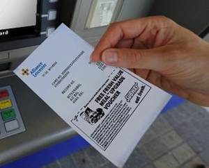 ATM ads on receipts