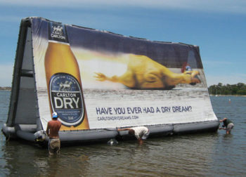 Floating Billboard Advertising