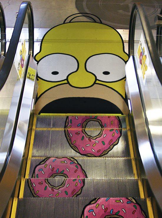 Escalator Advertising - Mall Advertising - Matrix Media Services