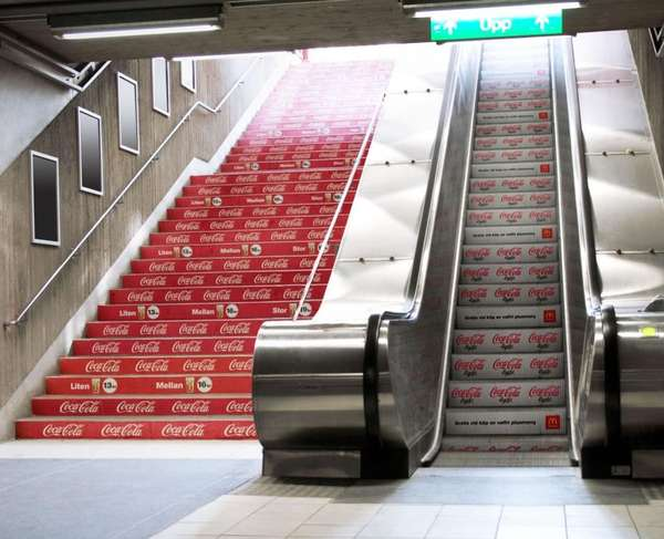 Escalator Advertising Examples Matrix Media Services